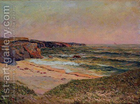 The Dunes of Port Blanc near Ile de Quiberon by Maxime Maufra - Reproduction Oil Painting