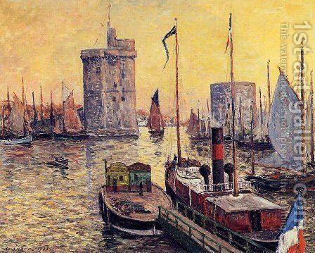 The Port of La Rochelle at Twilight by Maxime Maufra - Reproduction Oil Painting