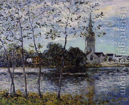 The Banks of the Pond at Rosporden, Finistere by Maxime Maufra - Reproduction Oil Painting