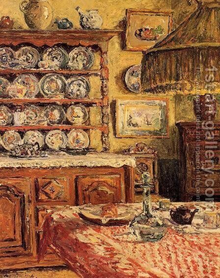 The Dining Room after Lunch by Maxime Maufra - Reproduction Oil Painting