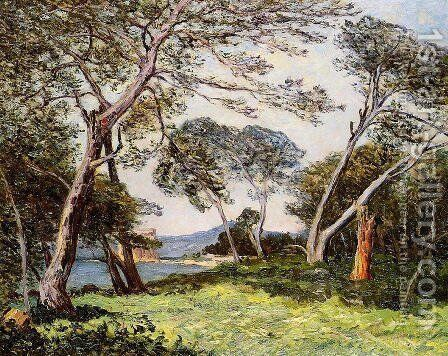 The Pines of the Ile St. Morah by Maxime Maufra - Reproduction Oil Painting