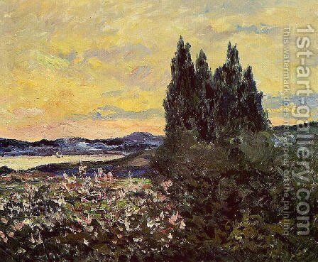 The Bay of Saint-Tropez, Evening by Maxime Maufra - Reproduction Oil Painting