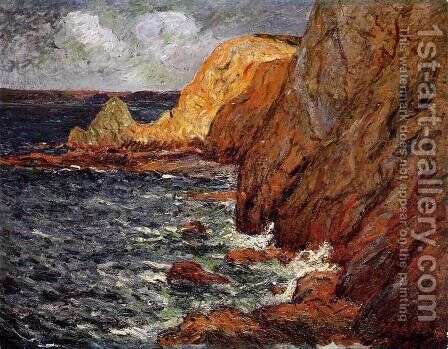 Cliffs by Maxime Maufra - Reproduction Oil Painting