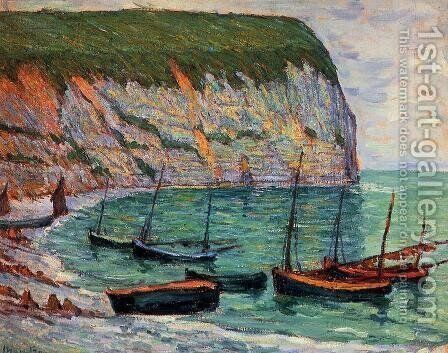 Fishing Boats on the Shore by Maxime Maufra - Reproduction Oil Painting