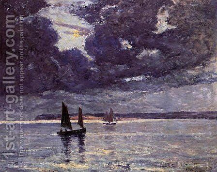 The Return of the Fishing Boats by Maxime Maufra - Reproduction Oil Painting