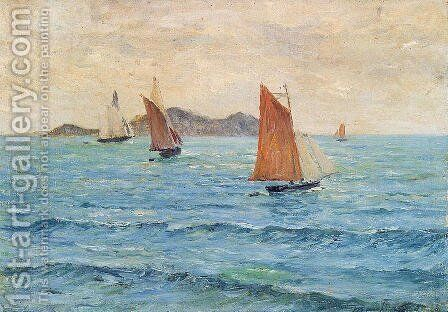 Sailboats by Maxime Maufra - Reproduction Oil Painting
