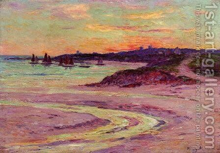 The Point de Lervily, Brittany by Henri Moret - Reproduction Oil Painting