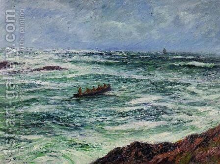 The Pilot, The Coast of Brittany by Henri Moret - Reproduction Oil Painting