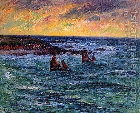 Evening, Audierne by Henri Moret - Reproduction Oil Painting