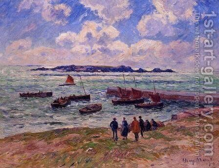 St. Guenole, Pen' March by Henri Moret - Reproduction Oil Painting