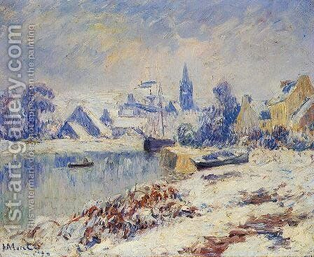 Quimper, Lake Marie in the Snow by Henri Moret - Reproduction Oil Painting