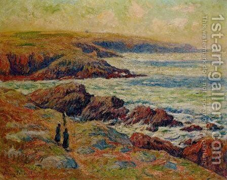 The Coast near Douarnenez by Henri Moret - Reproduction Oil Painting