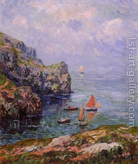 Stormy Weather, Brizellec, Finistere by Henri Moret - Reproduction Oil Painting