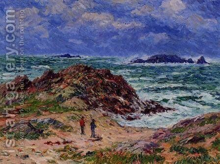 By the Sea in Southern Brittany by Henri Moret - Reproduction Oil Painting