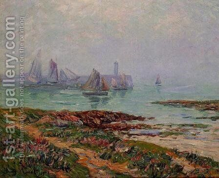 Misty Day at Dielette - the Manche by Henri Moret - Reproduction Oil Painting