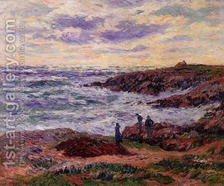The Coast at Doelan by Henri Moret - Reproduction Oil Painting