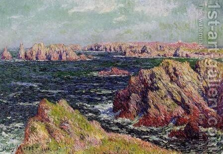The Cliffs of Belle Ile by Henri Moret - Reproduction Oil Painting