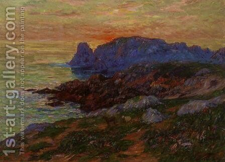 L'Ille d'Ouessant, Fininstere by Henri Moret - Reproduction Oil Painting