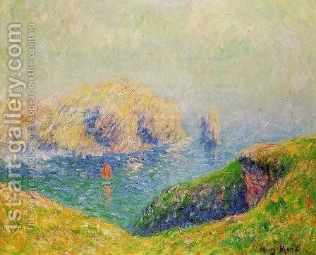 The Red Sail by Henri Moret - Reproduction Oil Painting