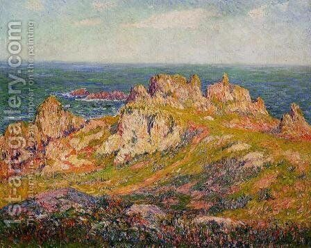 Rocks by the Sea by Henri Moret - Reproduction Oil Painting
