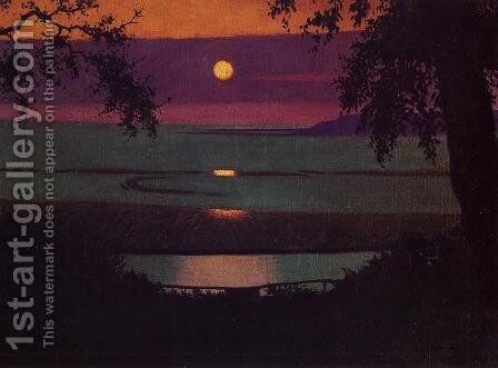 Sunset by Felix Edouard Vallotton - Reproduction Oil Painting