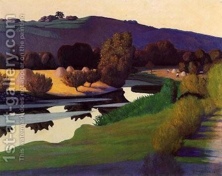 Evening on the Loire by Felix Edouard Vallotton - Reproduction Oil Painting