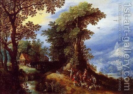The Return from the Hunt by Jan The Elder Brueghel - Reproduction Oil Painting
