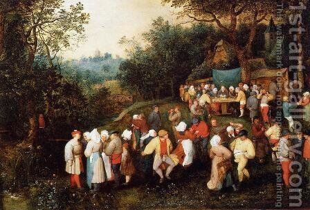 The Wedding Feast by Jan The Elder Brueghel - Reproduction Oil Painting
