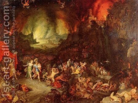 Aenaes and the Sybil in Hades by Jan The Elder Brueghel - Reproduction Oil Painting