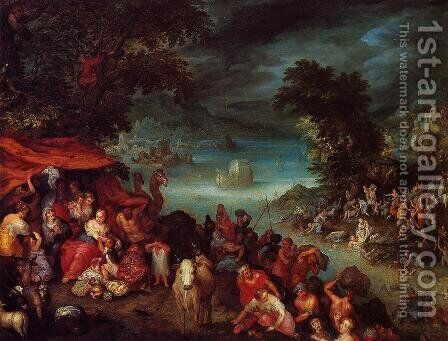 The Flood with Noah's Ark by Jan The Elder Brueghel - Reproduction Oil Painting