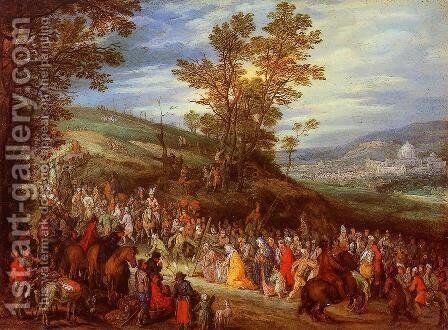 The Way of the Cross by Jan The Elder Brueghel - Reproduction Oil Painting