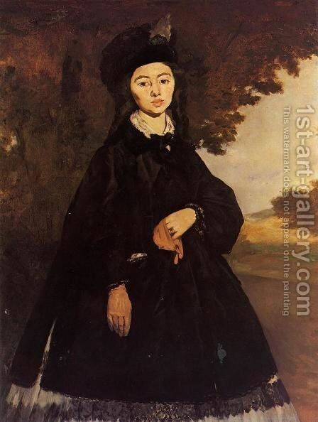 Portrait of Madame Brunet by Edouard Manet - Reproduction Oil Painting