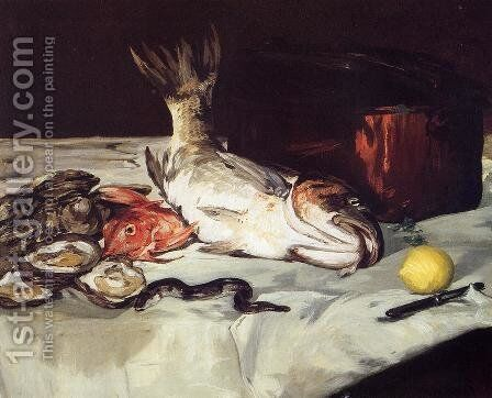 Still Life with Fish by Edouard Manet - Reproduction Oil Painting