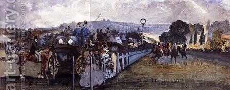 The Races at Longchamp by Edouard Manet - Reproduction Oil Painting