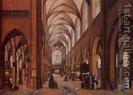 The Interior of the Cathedral of Antwerp by James Goodwin Clonney - Reproduction Oil Painting