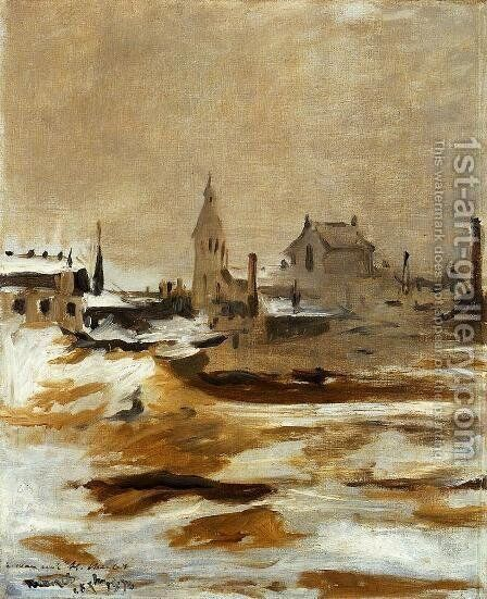 Effect of Snow at Petit-Montrouge by Edouard Manet - Reproduction Oil Painting