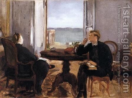 Interior at Arcachon by Edouard Manet - Reproduction Oil Painting