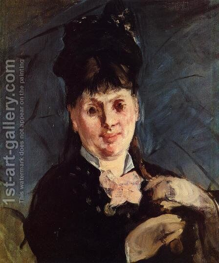Woman with Umbrella by Edouard Manet - Reproduction Oil Painting
