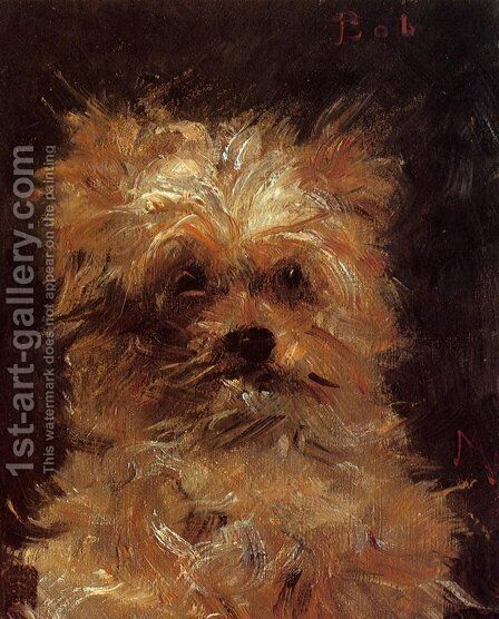 Head of a Dog, 'Bob' by Edouard Manet - Reproduction Oil Painting
