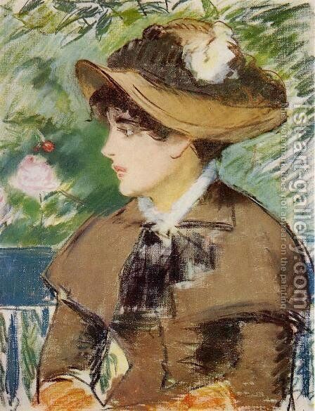 Young Girl on a Bench by Edouard Manet - Reproduction Oil Painting