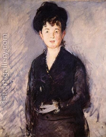 Woman with a Gold Pin by Edouard Manet - Reproduction Oil Painting