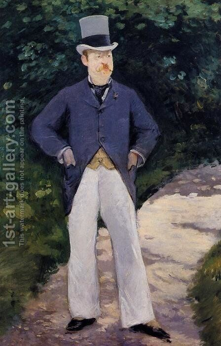 Portrait of Monsieur Brun by Edouard Manet - Reproduction Oil Painting