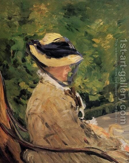 Madame Manet at Bellevue by Edouard Manet - Reproduction Oil Painting