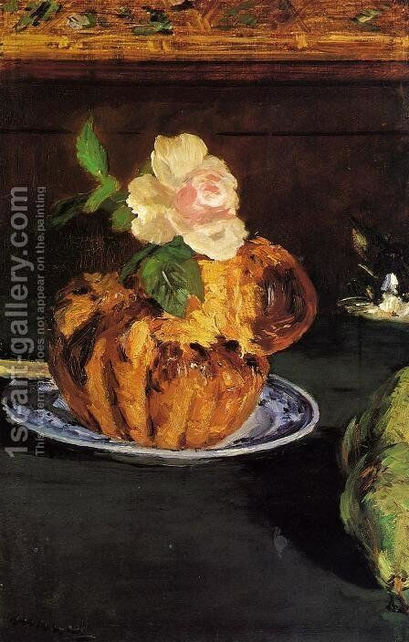 Still Life with Brioche by Edouard Manet - Reproduction Oil Painting