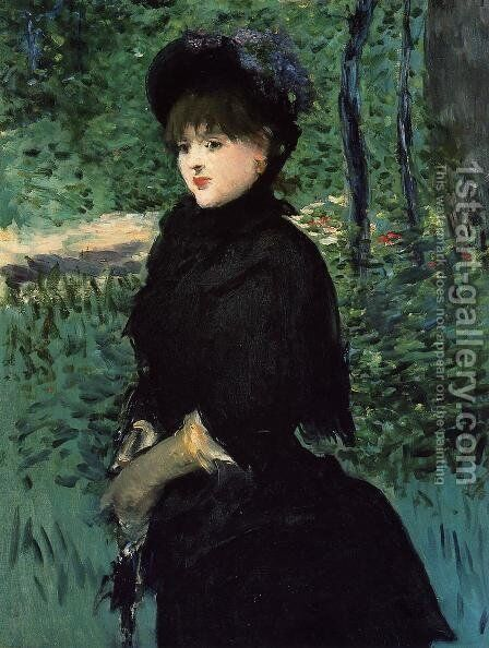The Promenade by Edouard Manet - Reproduction Oil Painting