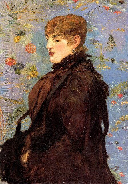 Autumn, Portait of Mery Laurent in a Brown Fur Cape by Edouard Manet - Reproduction Oil Painting