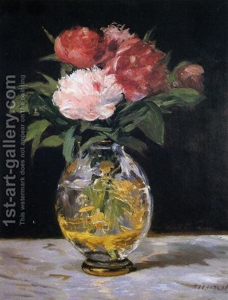 Bouquet of Flowers by Edouard Manet - Reproduction Oil Painting