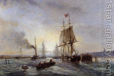 Entrance to the Port by Stanislas Lepine - Reproduction Oil Painting