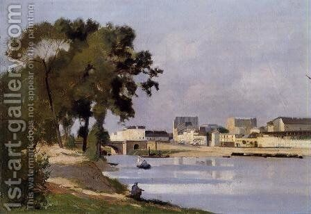 View of the Seine by Stanislas Lepine - Reproduction Oil Painting