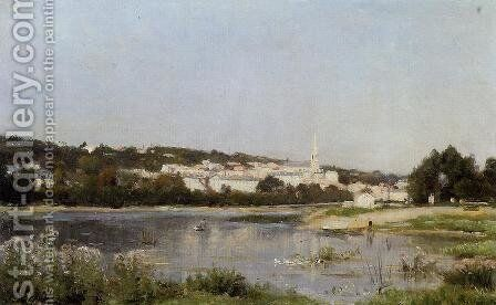 The Banks of the Saine at St. Cloud by Stanislas Lepine - Reproduction Oil Painting